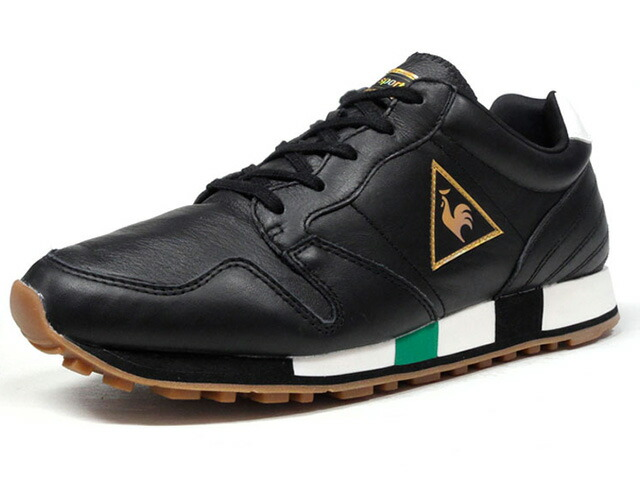 "le coq sportif OMEGA LEATHER ""SUPPORTER PACK"" ""LIMITED EDITION for SELECT""  BLK/WHT/GLD/GRN/GUM (1810280)"