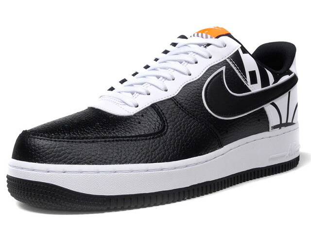 "NIKE AIR FORCE 1 07 LV8 ""LIMITED EDITION for ICONS""  BLK/WHT/ORG (823511-011)"