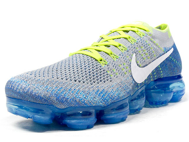 "NIKE AIR VAPORMAX FLYKNIT ""SPRITE"" ""LIMITED EDITION for RUNNING""  GRY/BLU/YEL/WHT (849558-022)"
