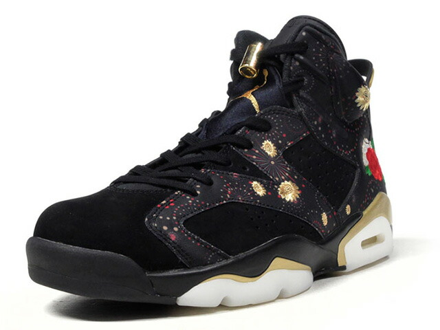"NIKE AIR JORDAN 6 RETRO CNY ""CHINESE NEW YEAR"" ""MICHAEL JORDAN"" ""LIMITED EDITION for JORDAN BRAND""  BLK/GLD/WHT/RED (AA2492-021)"