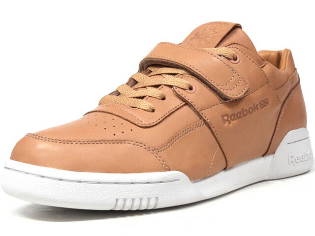 "Reebok WORKOUT PLUS STRAP CN ""LEATHER BROWN"" ""CROSSOVER"" ""FITNESS HERITAGE"" ""LIMITED EDITION for CERTIFIED NETWORK""  BGE/O.WHT (CN1855)"
