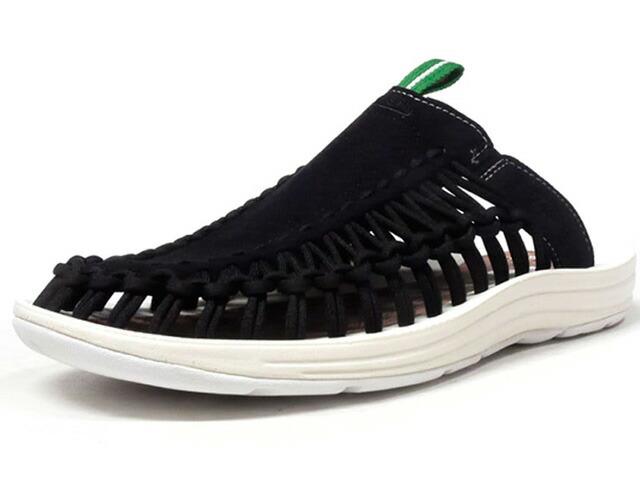 """KEEN UNEEK SLIDE """"mita sneakers""""  BLK/WHT/GRN (1018703)"""