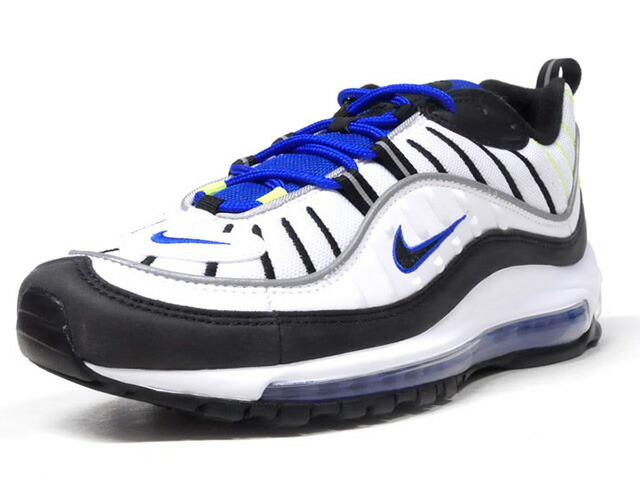"NIKE AIR MAX 98 ""RACER BLUE"" ""LIMITED EDITION for NSW""  WHT/BLK/BLU/N.YEL (640744-103)"