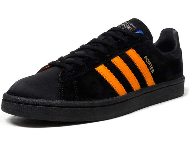 "adidas CAMPUS PORTER ""PORTER"" ""LIMITED EDITION for CONSORTIUM""  BLK/ORG (B28143)"