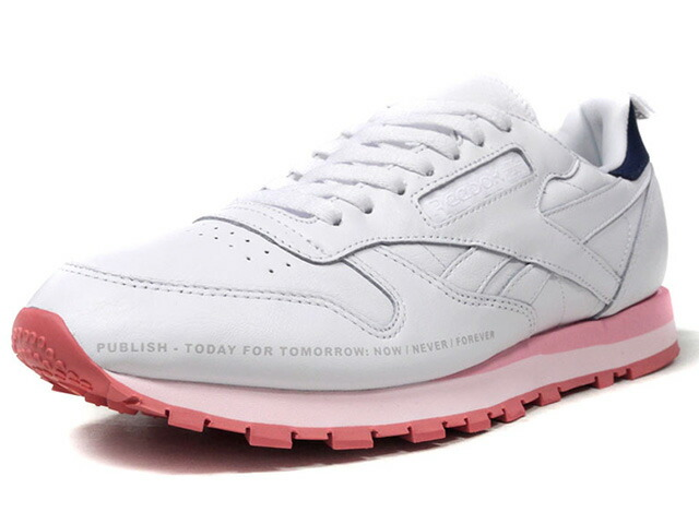 "Reebok CL LEATHER PUBLISH ""PUBLISH BRAND""  WHT/NVY/PNK/L.PNK (CN0380)"