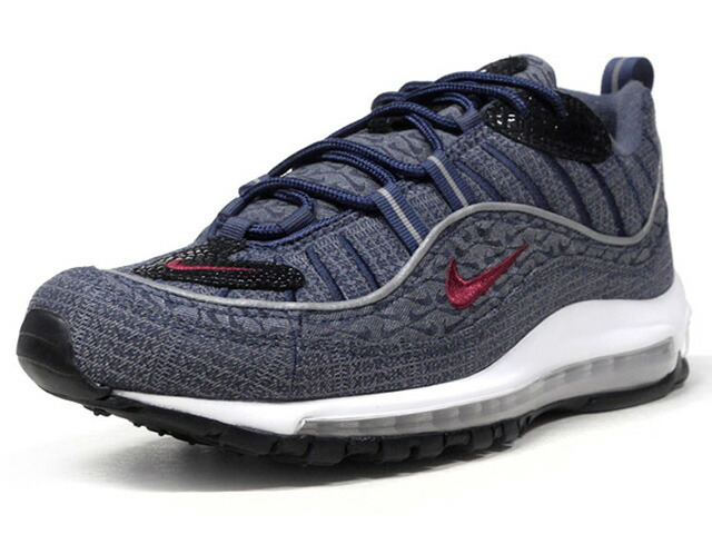 "NIKE AIR MAX 98 QS ""THUNDER BLUE"" ""LIMITED EDITION for NONFUTURE""  NVY/GRY/BLK/RED/WHT (924462-400)"