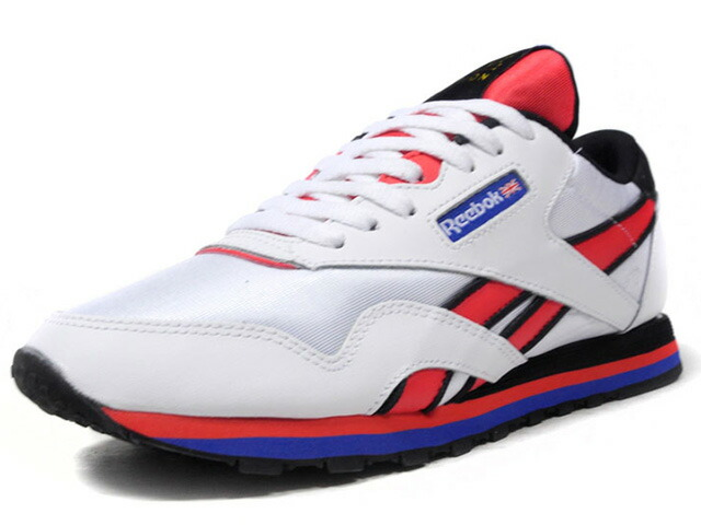 "Reebok (WMNS) CL NYLON PE ""P.E NATION""  WHT/RED/BLU/BLK (CN3904)"