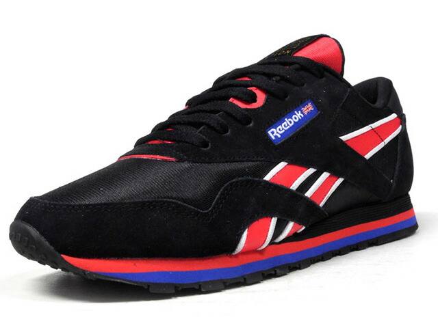 "Reebok (WMNS) CL NYLON PE ""P.E NATION""  BLK/RED/BLU/WHT (CN3905)"
