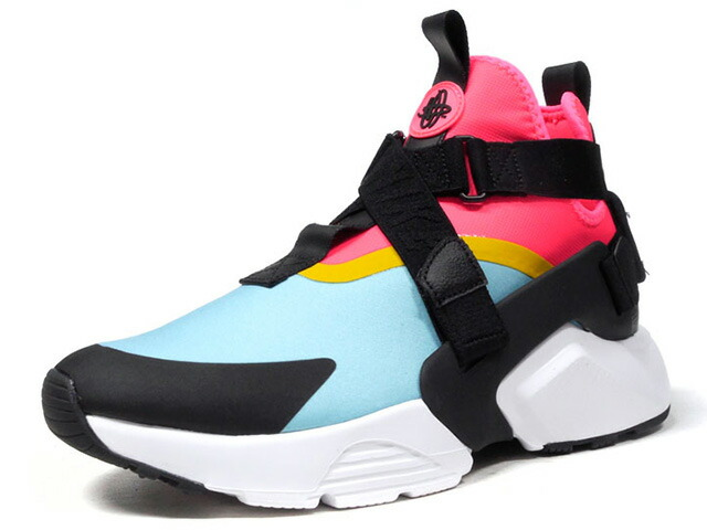"NIKE (WMNS) AIR HUARACHE CITY ""LIMITED EDITION for NSW BEST""  SAX/PNK/BLK/YEL/WHT (AH6787-400)"