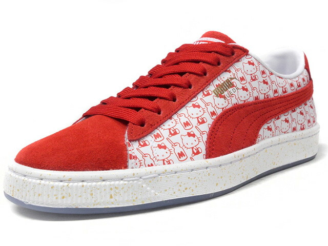 "Puma SUEDE CLASSIC X HELLO KITTY ""HELLO KITTY"" ""SUEDE 50th ANNIVERSARY"" ""KA LIMITED EDITION""  WHT/RED (366306-01)"
