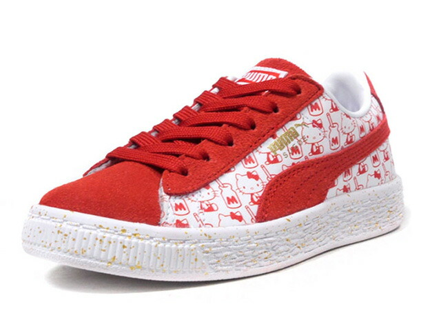 "Puma SUEDE CLASSIC X HELLO KITTY PS ""HELLO KITTY"" ""SUEDE 50th ANNIVERSARY"" ""KA LIMITED EDITION""  WHT/RED (366464-01)"