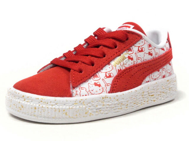 "Puma SUEDE CLASSIC X HELLO KITTY INFANT ""HELLO KITTY"" ""SUEDE 50th ANNIVERSARY"" ""KA LIMITED EDITION""  WHT/RED (366465-01)"