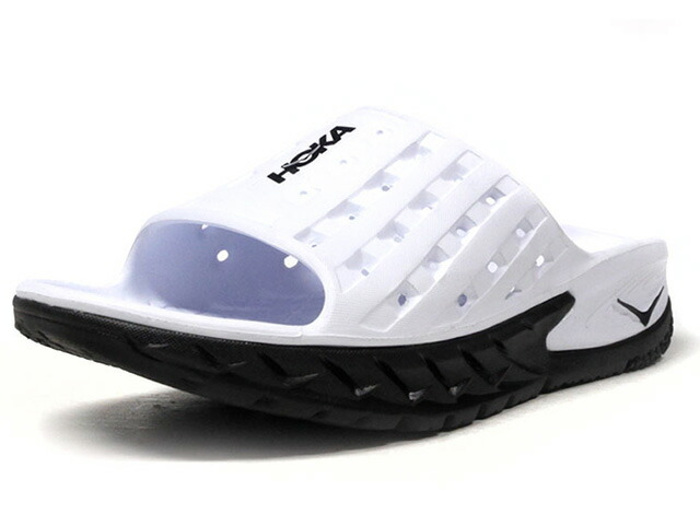 HOKA ONE ONE ORA RECOVERY SLIDE  WHT/BLK (1014864BWHT)