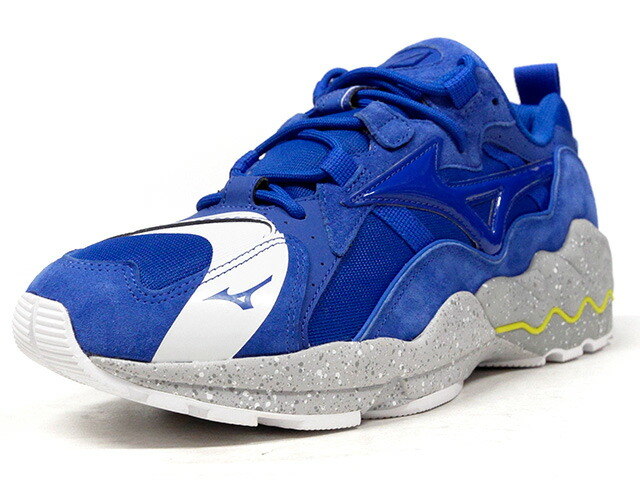 "MIZUNO WAVE RIDER 1 ""NO BORDER"" ""mita sneakers"" ""LIMITED EDITION for KAZOKU""  BLU/WHT/GRY/YEL (D1GD180027)"