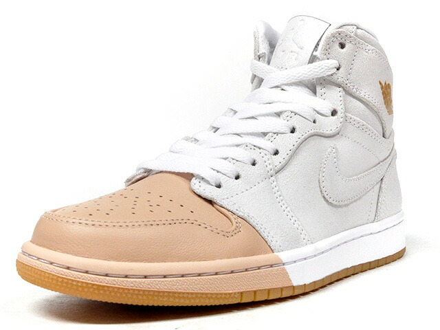 "NIKE (WMNS) AIR JORDAN 1 RETRO HIGH PREM ""TAN DIPPED TOE PACK"" ""LIMITED EDITION for NONFUTURE""  BGE/WHT (AH7389-107)"