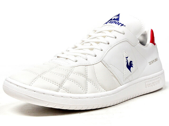 "le coq sportif PLUME X ""FOOTBALL PACK"" ""mita sneakers Direction""  WHT/RED/BLU (QL1LJC10WH)"