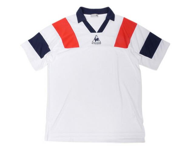 "le coq sportif SHORT SLEEVE SHIRTS ""FOOTBALL PACK""  WHT/RED/BLU (QLMLJA40MT)"