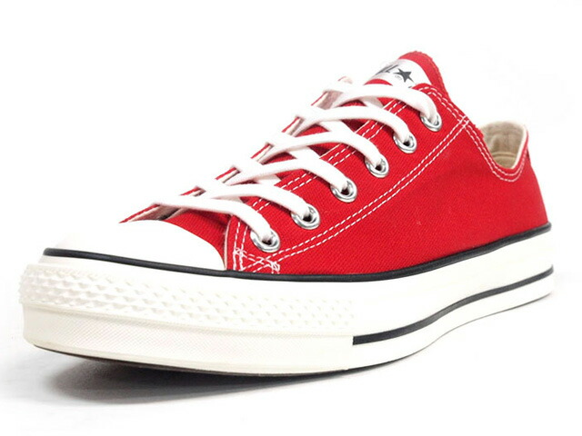 "CONVERSE CANVAS ALL STAR J OX ""made in JAPAN"" ""LIMITED EDITION""  RED/NAT (32167432)"
