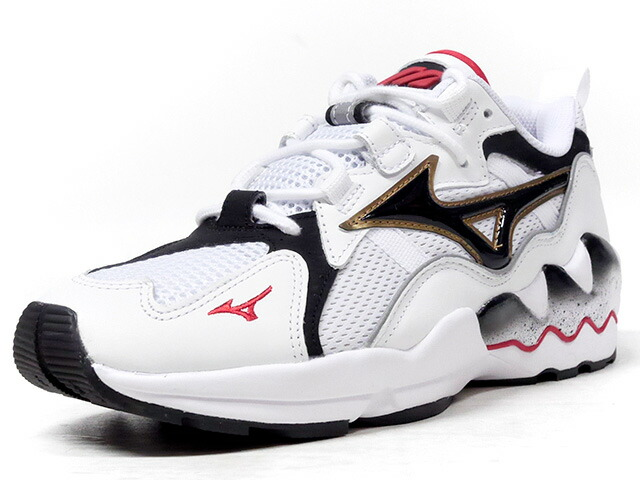"MIZUNO WAVE RIDER 1 OG ""LIMITED EDITION for KAZOKU""   WHT/BLK/RED (D1GA182501)"