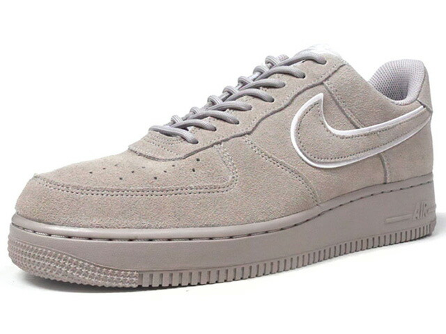 "NIKE AIR FORCE 1 07 LV8 SUEDE ""LIMITED EDITION for ICONS""  L.GRY/WHT/L.GRY (AA1117-201)"