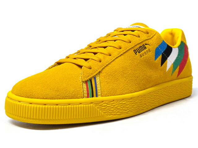"Puma SUEDE X PWR THRU PCE X AFRICA ""POWER THROUGH PEACE PACK"" ""SUEDE 50th ANNIVERSARY"" ""KA LIMITED EDITION""  YEL/MULTI (366295-01)"
