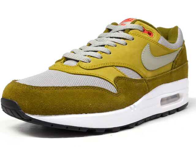 "NIKE AIR MAX 1 PREMIUM RETRO ""GREEN CURRY"" ""LIMITED EDITION for NONFUTURE""  OLV/L.GRY/RED/WHT (908366-300)"