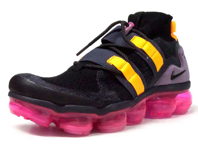 """NIKE AIR VAPORMAX FLYKNIT UTILITY """"LIMITED EDITION for RUNNING FLYKNIT""""  BLK/C.GRY/PPL/YEL/N.PNK (AH6834-006)"""