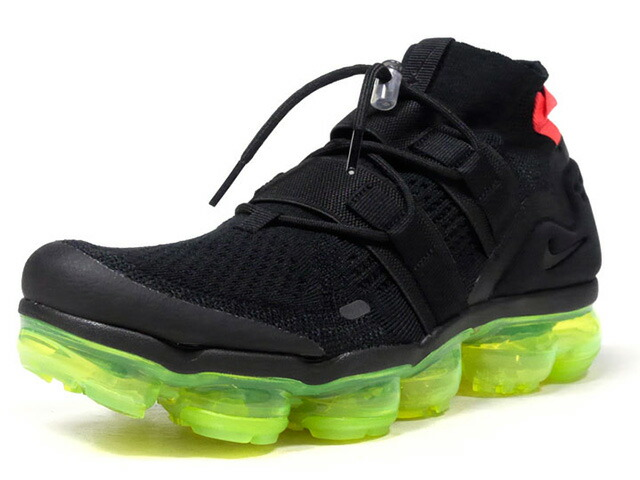 """NIKE AIR VAPORMAX FLYKNIT UTILITY """"LIMITED EDITION for RUNNING FLYKNIT""""  BLK/N.PNK/WHT/N.YEL (AH6834-007)"""