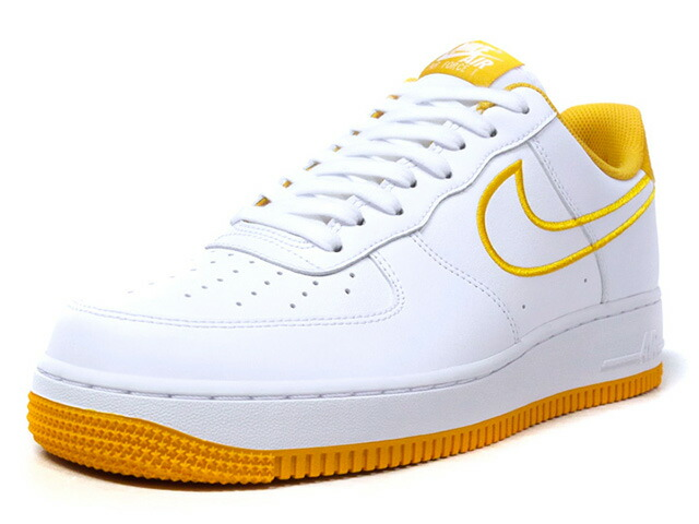 """NIKE AIR FORCE 1 07 LTHR """"LIMITED EDITION for NSW""""  WHT/YEL (AJ7280-101)"""