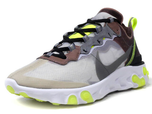 """NIKE REACT ELEMENT 87 """"LIMITED EDITION for NONFUTURE"""" CLEAR/BRN/GRY/N.YEL/WHT (AQ1090-002)"""