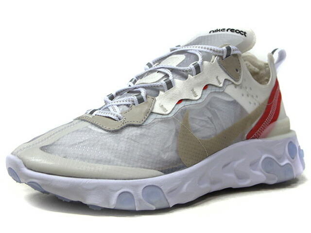 "NIKE REACT ELEMENT 87 ""LIMITED EDITION for NONFUTURE""  O.WHT/ORG/WHT/GRY (AQ1090-100)"