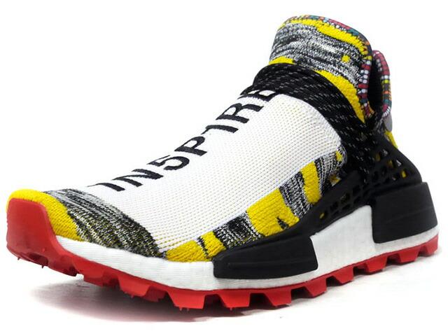 "adidas SOLAR HU NMD ""PHARRELL WILLIAMS"" ""SOLAR HU COLLECTION""  WHT/YEL/BLK/RED (BB9527)"