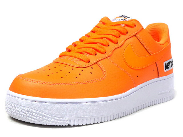 """NIKE AIR FORCE 1 07 LV8 JDI LTHR """"JUST DO IT PACK"""" """"LIMITED EDITION for NSW""""  ORG/WHT/BLK (BQ5360-800)"""