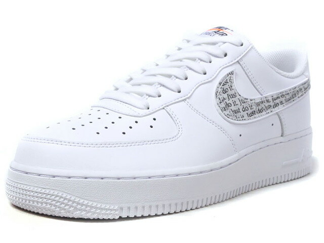 """NIKE AIR FORCE 1 07 LV8 JDI LNTC """"JUST DO IT PACK"""" """"LIMITED EDITION for NSW""""  WHT/BLK (BQ5361-100)"""