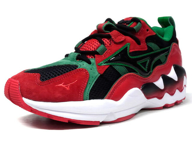 "MIZUNO WAVE RIDER 1 LAMJC ""La MJC"" ""LIMITED EDITION for KAZOKU"" RED/BLK/GRN/WHT (D1GD182562)"