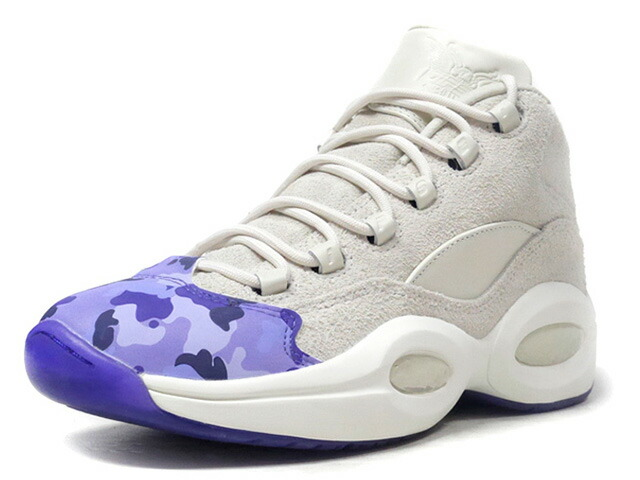 "Reebok QUESTION MID CAMRON ""PURPLE CAMO"" ""CAM'RON""  O.WHT/PPL/CAMO (DV4774)"