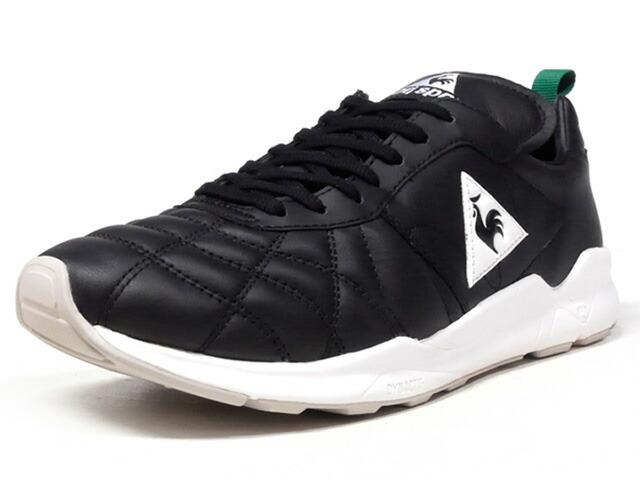 """le coq sportif PLUME X RUN """"mita sneakers""""  BLK/WHT/GRN (QY2LJC00BW)"""