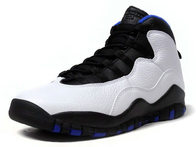 "JORDAN BRAND AIR JORDAN 10 RETRO ""ORLANDO"" ""MICHAEL JORDAN"" ""LIMITED EDITION for JORDAN BRAND""  WHT/BLK/BLU (310805-108)"