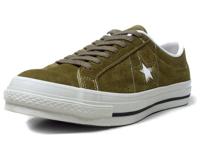 "CONVERSE ONE STAR J SUEDE ""made in JAPAN"" ""LIMITED EDITION""  OLV/WHT/BLK/O.WHT (32356914)"