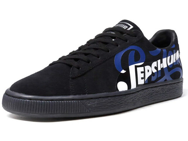 "Puma SUEDE CLASSIC X PEPSI ""PEPSI"" ""SUEDE 50th ANNIVERSARY"" ""KA LIMITED EDITION""  BLK/BLU/WHT (366332-02)"