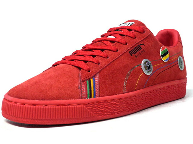 "Puma SUEDE X PWR THRU PCE X ASIA ""POWER THROUGH PEACE PACK"" ""SUEDE 50th ANNIVERSARY"" ""KA LIMITED EDITION""  RED/MULTI (368184-01)"
