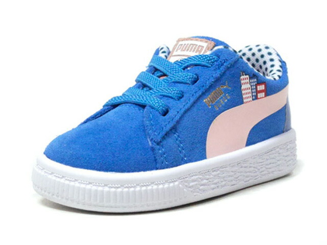 "Puma SESAME STR 50 SUEDE INF ""COOKIE MONSTER/SESAME STREET"" ""LIMITED EDITION for PRIME""  BLU/WHT (368925-01)"
