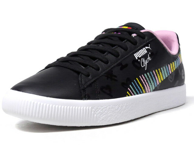 """Puma CLYDE """"BRADLEY THEODORE"""" """"LIMITED EDITION for LIFESTYLE""""  BLK/WHT/PNK/E.GRN/YEL/BLU (369555-01)"""