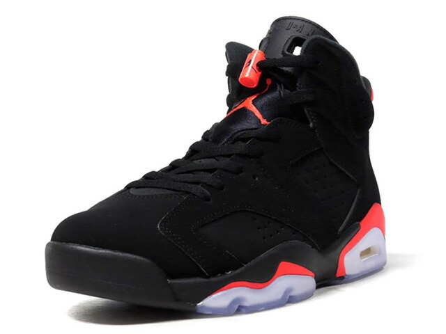 "JORDAN BRAND AIR JORDAN 6 RETRO ""INFRARED"" ""MICHAEL JORDAN"" ""LIMITED EDITION for JORDAN BRAND""  BLK/RED/WHT (384664-060)"