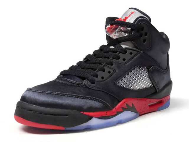"JORDAN BRAND AIR JORDAN 5 RETRO GS ""BRED"" ""MICHAEL JORDAN"" ""LIMITED EDITION for NONFUTURE""  BLK/RED/SLV (440888-006)"