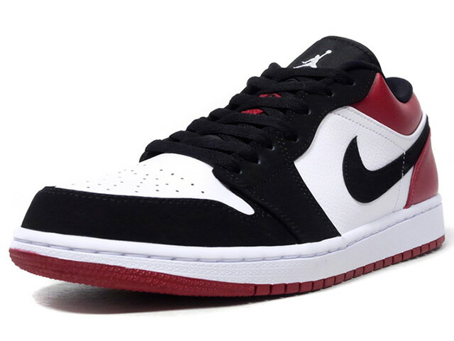 "JORDAN BRAND AIR JORDAN 1 LOW ""BLACK TOE"" ""MICHAEL JORDAN""  BLK/WHT/RED (553558-116)"