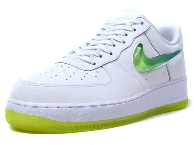 "NIKE AIR FORCE 1 '07 PRM 2 ""LIMITED EDITION for NSW""  WHT/L.GRN/E.GRN (AT4143-100)"