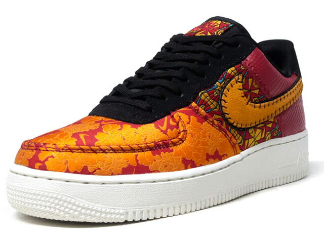 """NIKE AIR FORCE 1 '07 PRM 3 """"LIMITED EDITION for NSW""""  RED/GLD/BLK/NAT (AT4144-601)"""