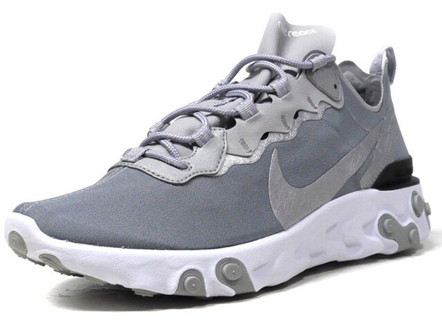"""NIKE REACT ELEMENT 55 """"LIMITED EDITION for NSW""""  GRY/L.GRY/SLV/WHT (BQ6166-007)"""