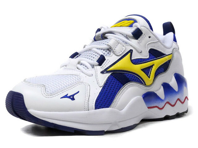 "MIZUNO WAVE RIDER 1 OG ""LIMITED EDITION for KAZOKU""  WHT/YEL/BLU (D1GA182527)"